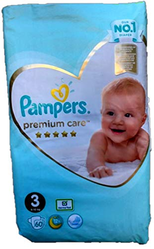 Pampers 274780 NEU 60 Windeln Pampers Premium Care Gr.3, 6-10 KG-Einweg-Windeln