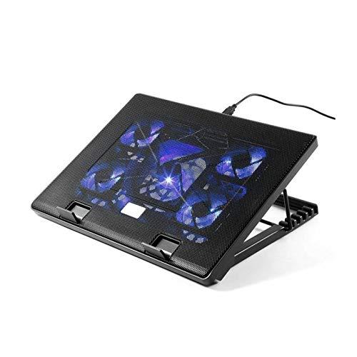 Pad de enfriamiento portátil Portátil De Enfriamiento Portátil Pad 5 Ventilador 2 Pad Pad USB 11'-17' Portátil Es para portátil (Color : Black)