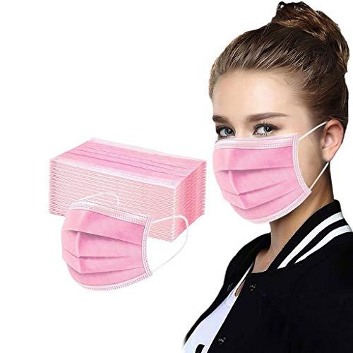 50 Piezas de Face Covering Unisex para Adultos, Elegantes, Atractivas y Transpirables, con una Variedad de Hermosos Patrones para Elegir (j-50pcs)