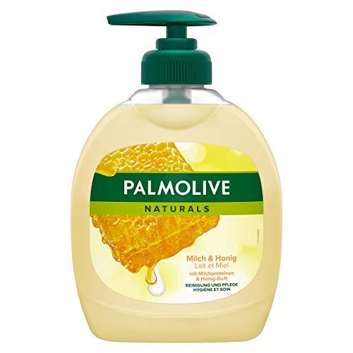 Palmolive Flüssigseife Naturals Milch & Honig, 300 ml - Seife basierend auf einer sanften, seifenfreien Formel, für alle Hauttypen geeignet, herrlicher Duft