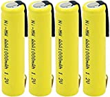 Ni Mh AAA Battery Rechargeable 1.2v 1000mah Batteries for Keyboard Power Mp3-4PCS