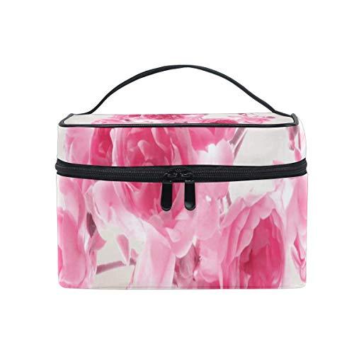 Trousse de maquillage Jolies roses Roses Sac cosmétique Grand trousse de toilette pour femmes/filles Voyage