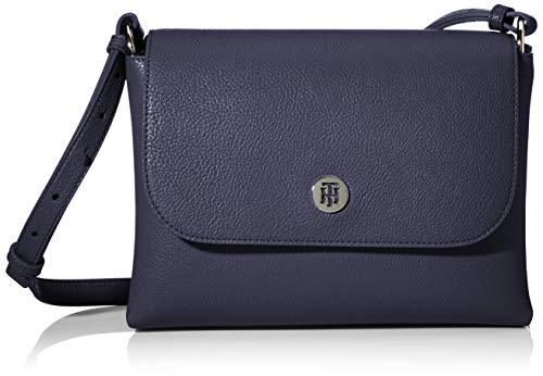 Tommy Hilfiger Damen Th Core Flap Crossover Umhängetasche, Blau (Sky Captain), 1x1x1 cm