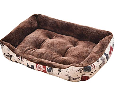 Zachte en warme dikke korte pluche fluwelen hondenmand, wasbare hond, grote hondenmand, hondenmand, kennel, hondenhok diep slaap, fluwelen kussenbank