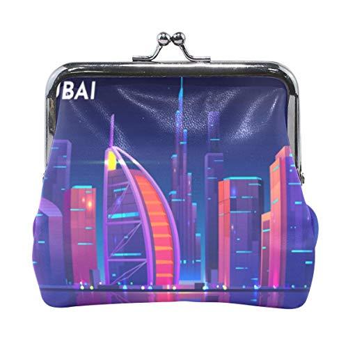 Dubai City Skyline portemonnee portemonnee handtas kleine tas portemonnee cash tas kaart verandering houder