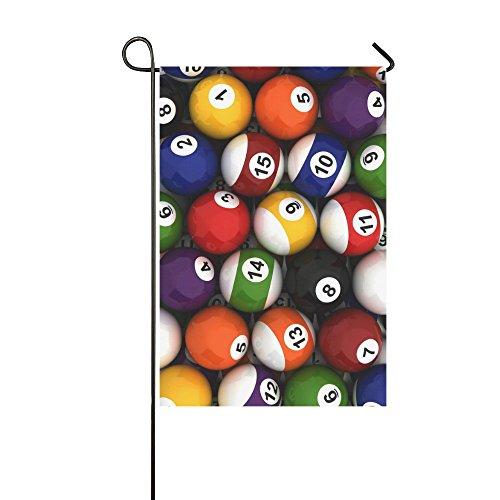 interestprint bolas de billar poliéster bandera de Jardín Casa Banner 12x 18inch,...