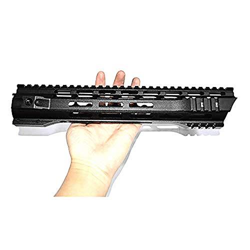 "Haowenzhen 12"" inch MLOK Handguard Free Float Super Slim AR 15 Handguard Quad Rail for M4 M16 with Steel Barrel Nut"