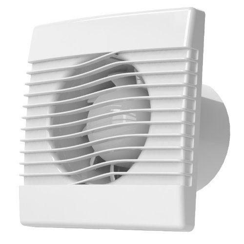 plumbing4home Ventilator Badlüfter Wandlüfter mit Jalousie Lüfter 01-001, Ø100 weiß