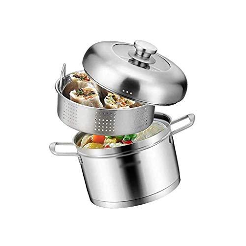 SHYPT Im japanischen Stil Edelstahl Dampfgarer, DREI-Schicht dick Composite-Bottom Cooker Topf, Haushaltstopf mit Suppe...