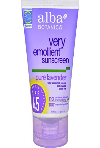 Alba Botanica Soothing Sunscreen, Pure Lavender SPF 45, 4oz