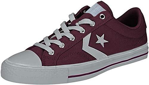Converse Star Player Ox, Zapatillas de Deporte Unisex Adulto, Rojo (Vintage Wine/White/White 507), 45 EU