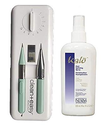 Clean & Easy Deluxe Home Electrolysis Kit + Kalo Epilating Spray 4oz by Clean & Easy Kalo