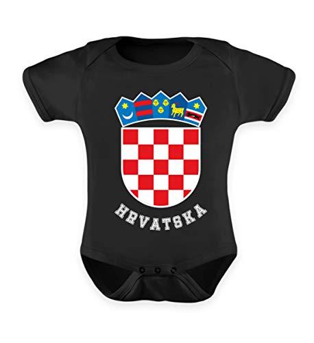 Hochwertiges Baby Body - Kroatisches Wappen Hrvatska T-Shirt Kroatien Trikot Geschenk