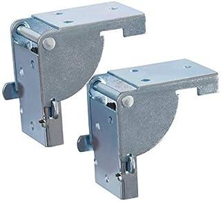 GedoTec Bisagra de solapa Consola plegable tapa tabla para Patas mesa y Bancos Galvanizado con acero pies la 38 x 38 mm Calidad marca su Sala estar, 1 Paar