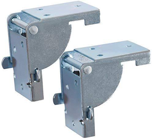 Gedotec Folding Fitting Pieghevole tavolo ribaltabile per gambe e panche da tavolo Acciaio zincato | Console pieghevole per piedini da tavolo 38 x 38 mm | PRODOTTO IN GERMANIA | 1 paio - (2 pezzi)