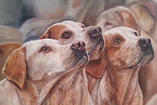 1000 kappaleen puinen palapeli,Groep honden van drie honden Kinderen Houten puzzels Volwassenen Spel DIY Room Decor Puzzel