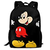 Lightweight Backpack Briefcase Laptop Shoulder Bag Mickey Mouse Cartoons Classic Basic Water Resistant Daypack Bag