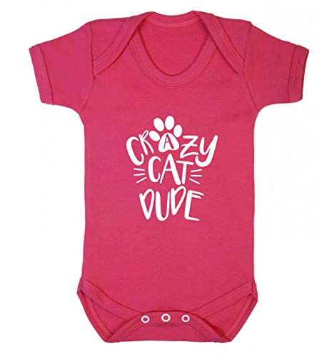 Flox Creative Gilet pour bébé Crazy Cat Dude - Rose - M