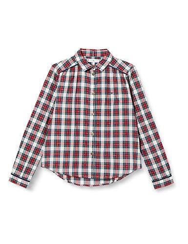 Tommy Hilfiger Mädchen Shirt L/s Hemd, Ivory Petal/Check, 5