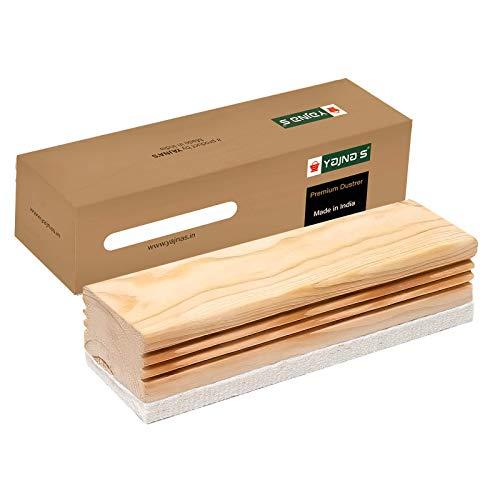 YAJNAS® Non Magnetic Wooden White Board Duster | Whiteboard Eraser for Erasing White Board Marker or Chalk Board Writing Erasing Wooden Duster - (Pack of 1)