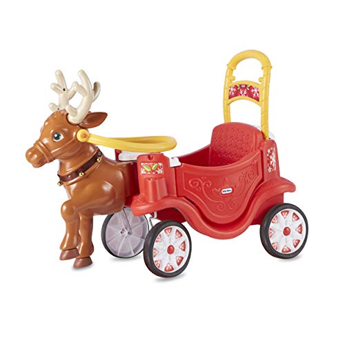 Little Tikes Reindeer Carriage Festive Holiday Ride-On