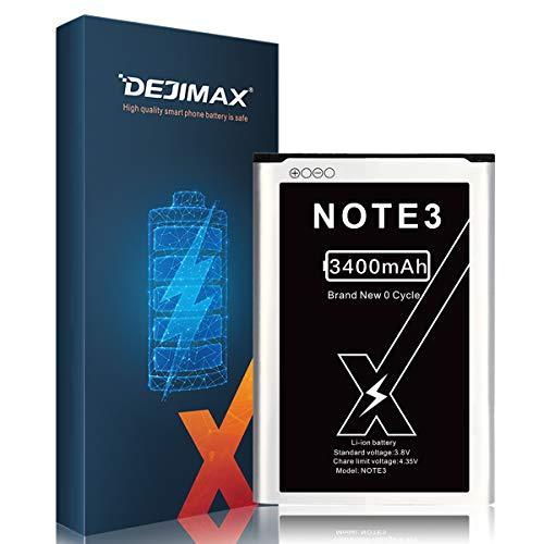 DEJIMAX Alta Capacidad Batería para Samsung Galaxy Note 3, 3400mAh batería de Alto Capital para NOTE3/N900A/N9000/N9005/N900/N9002