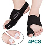 Bunion Corrector Splints Night and Day Kit 4PCS, AVIDDA Big Toe Straightener Separators