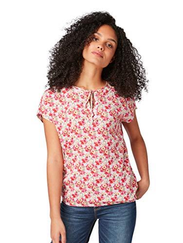 TOM TAILOR Damen 1009754 Bluse, Rosa (Pink Floral Design 16769), (Herstellergröße: 40)