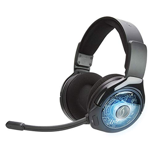PDP PS4 Afterglow AG 9+ Prismatic True kabelloses Gaming-Headset 051-044-EU-BK-AMZ, Schwarz