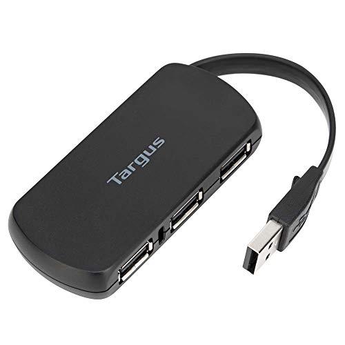 Targus 4-Port USB 2.0 Hub with Sleek and Travel Friendly, Black (ACH114US)