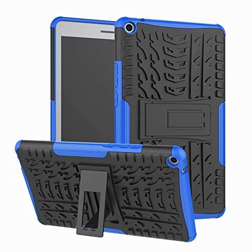 Funda Protectora para Huawei MediaPad T3 8, Silicona híbrida de TPU y PC Duro con función Atril para Huawei Mediapad T3 de 8 Pulgadas (KOB-L09/KOB-W09) Azul Huawei MediaPad T3 8
