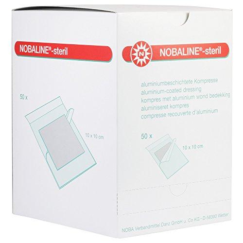 50 x NOBALINE steril Aluminiumbeschichtete Wundkompresse, Größen:10.0 cm x 10.0 cm