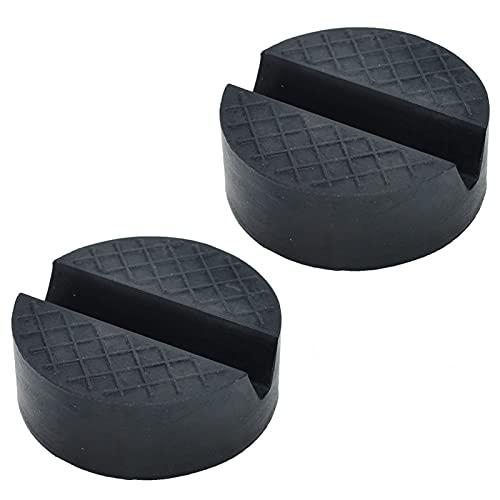 Adaptador de goma de goma 2PC Jack Adaptador antideslizante Bloque de soporte de herramientas de elevación de automóvil for To-Yo-Ta Honda Kia Mazda Hyundai (Color : Black)