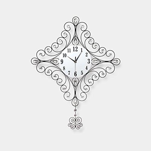 Orologio da parete Piazza Ferro Grande Dimensione personalità Creativo Orologio al Quarzo Decorazione Camera da Letto Muto Tavolo appendente Mestieri con Il Pendolo
