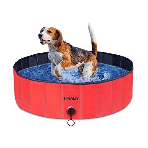 HIRALIY Plastic Pool Hard Shell Kiddie Pools,Foldable Dog Tub Swimming Pool for Kiddy Backyard Outside and Small Medium Large Dogs Kids