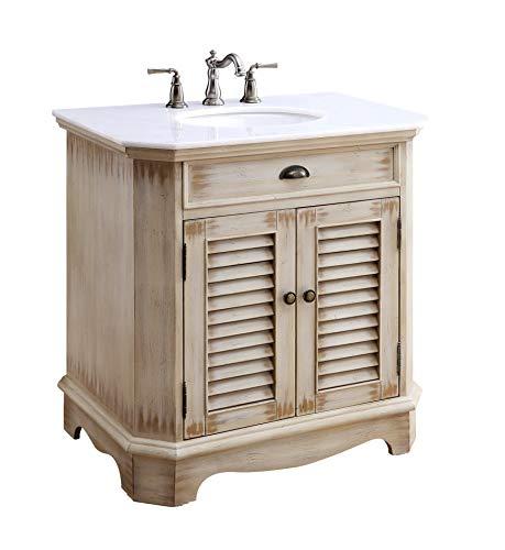 """Chans Furniture 32"""" Cottage Look Fairfield Bathroom Sink Vanity Model CF-47524"""