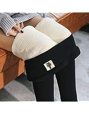 Supertjocka kashmir-ull-leggings tjocka och varma i vinter ullfoder stretch leggings dam stor storlek höga midja leggings, A, M