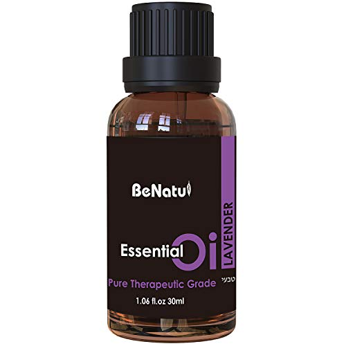 Lavender Essential Oil for Skin Care, Aromatherapy, Massage - Pure Diffuser Oil for Hair Growth, Peaceful Sleep, Stress 1 oz - by Benatu