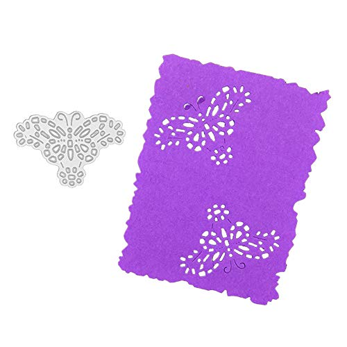 Butterfly Background Metal Cutting Die, Die Cuts Stencil Cutting Template Moulds Scrabooking Supplies for Invitation Card Making, Paper Crafting, Envelope, Emboosing, DIY Photo Album