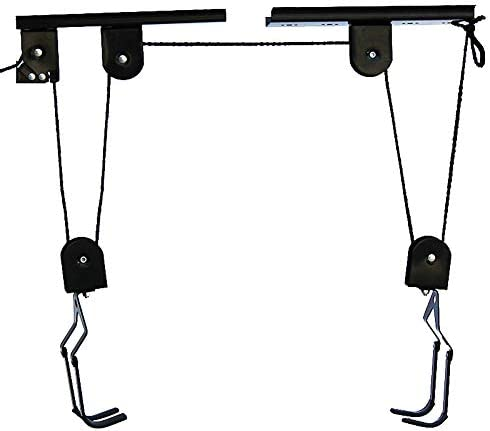 Bike Lift Hoist for Garage Storage Heavy Duty Ceiling Mountain Bicycle Hanger Pulley Rack 100 product image