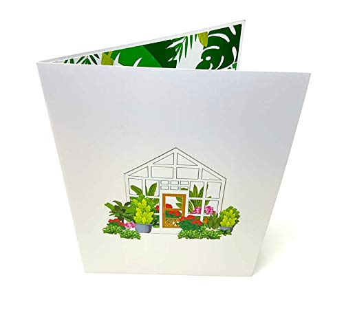 Pop Up Cards York Green House 3D Greeting Pop Up Card for New House Warming Valentines Day Mother's Day Father's Day Wedding Anniversary Birthday Retirement Thinking of You Gifts Cards