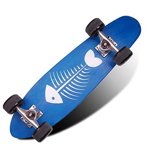 VOMI Cruiser Skateboard, Adecuado para Principiantes Adolescentes y Adultos, Carga Máxima 150kg, ABEC 7 Rodamiento, 78A PU Rueda, Peso del Producto 2.2kg, Superficie Antideslizante,B