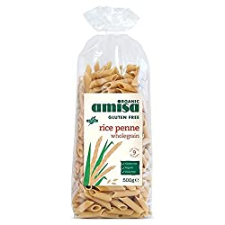 Organic and gluten free penne made from wholegrain rice Batch tested for gluten Serve with your favourite pasta sauce or pesto Cooks in 8 mins