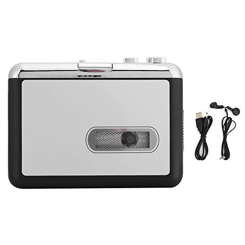 Ymiko Convertitore di Cassette USB Portable Tape to MP3 Audio Music Cassette Capture per Laptop e PC
