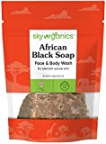 African Black Soap Bar by Sky Organics (16oz) Raw Black Soap Face & Body Wash - Authentic Handmade Soap from Ghana Facial Wash Vegan and Cruelty-free