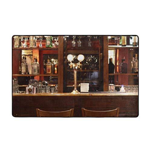 Tapis de Bain, Tapis de Salle de Bain de comptoir de Bar d'art rétro 50x80cm