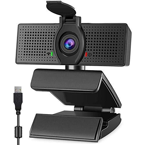 Webcam mit Mikrofon für PC, KUACALL Webcam 1080p HD USB2.0, Web Camera mit Abdeckung für Videochat und Aufnahme, kompatibel mit Windows, Mac und Android, Plug und Play