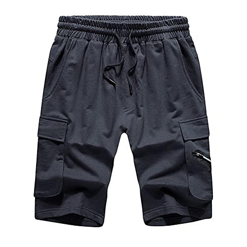 Pantalones cortos de carga para hombre, cintura elástica, pantalones de verano, ropa de día festivo, playa, caminar, correr, correr, hacer ejercicio, deportes, material suave