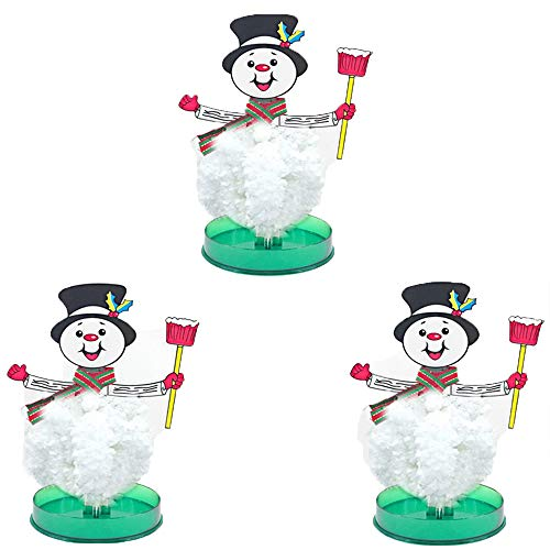 Magic Growing Christmas Tree, Kids DIY Felt Magic Crystal Christmas Decorations Multiple Choices Paper Tree, The Best Christmas Tree Gift for Boys and Girls (Snowman with Broom 3)