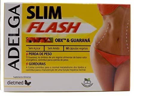 ADELGA SLIM FLASH Exclusiva formula OB-X para personas sedentarias y deportistas, combate las grasas más difíciles, ayuda en la perdida de grasa visceral, acelera el metabolismo, controla el apetito